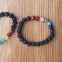 Chakra Lava Diffuser Bracelet with 7 Chakra Crystals | Cloudsonline
